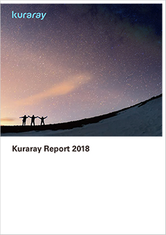 Front cover of the Kuraray Report 2018